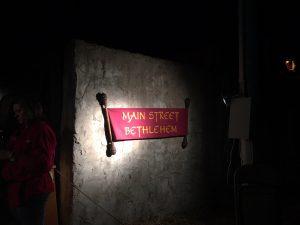 Main Street Bethlehem Wooden Scroll
