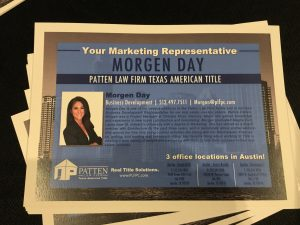 Patten Law Firm Business Card