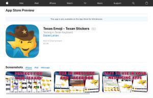 Texas Emoji Sticker App Preview