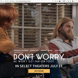 Don't Worry, He Won't Get Far on Foot Movie - .movie domain