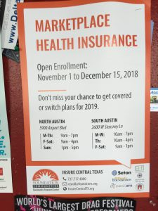 Open Enrollment for Marketplace Health Insurance