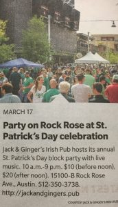 Jack & Ginger's Irish Pub | Austin, Texas | The Domain