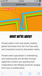 pocket.watch, a startup children's media company