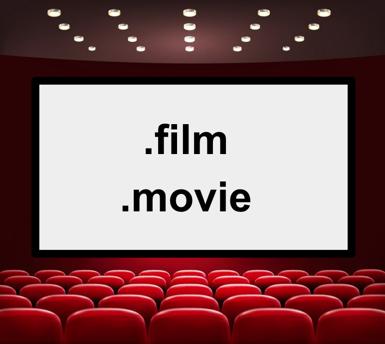 .film and .movie domain extensions